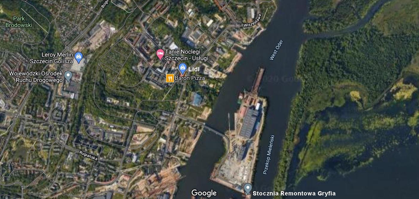 Migrand Hotel Robotniczy Stoczni Remontowej Gryfia - lokalizacja na mapie google - hotel pracowniczy szczecin