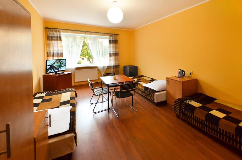 Hostel Szczecin pokój 3 osobowy z TV