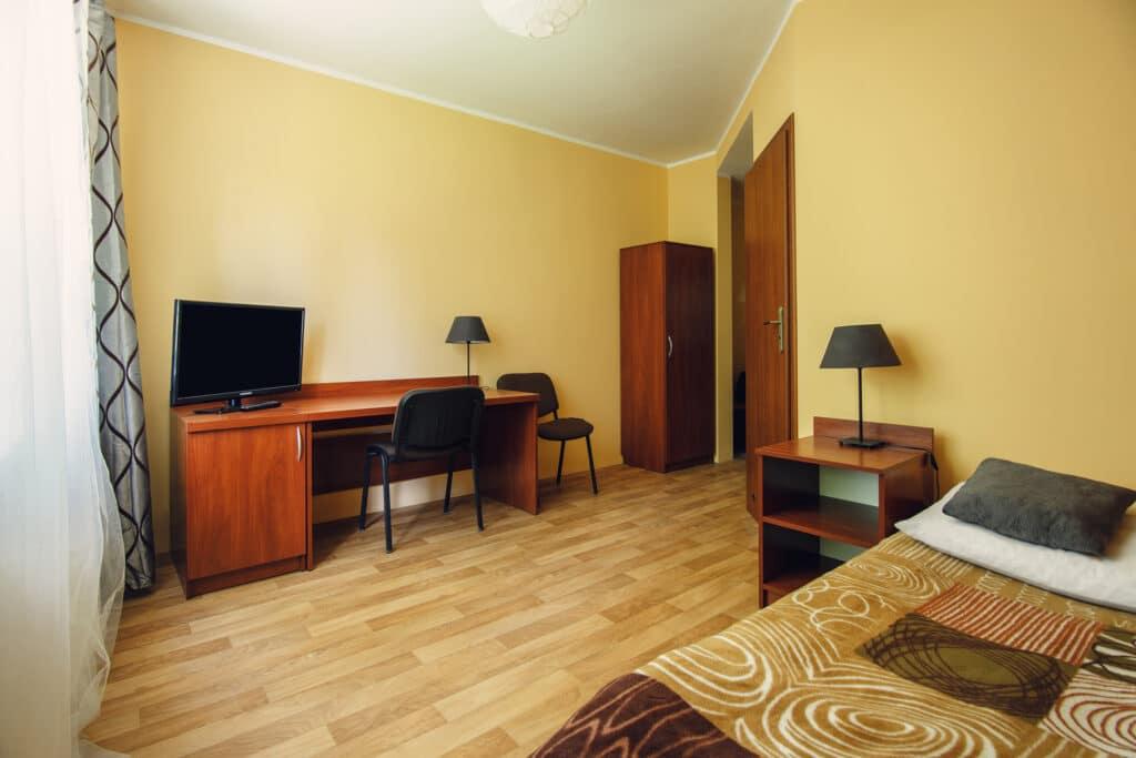 Pokój 1 osobowy z łazienką w Szczecinie. Migrand tanie noclegi i hostel szczecin